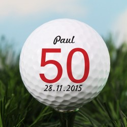Personalised Message Big Numbers Golf Ball