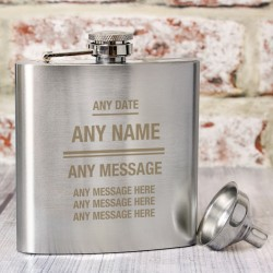 Any Message Hip Flask