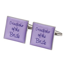Square Lilac - Grandfather of the Bride Cufflinks