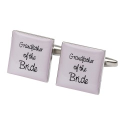 Square Pale Pink - Grandfather of the Bride Cufflinks