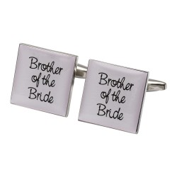 Square Pale Pink - Brother of the Bride Cufflinks