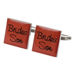 Square Orange - Brides Son Cufflinks