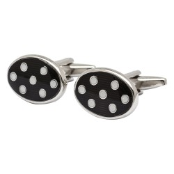 Black and White Spot Cufflinks
