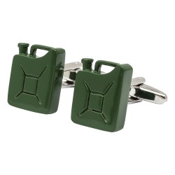 Green Military Jerry Can Cufflinks