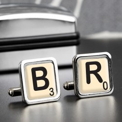 Personalised - Initials & Age - Cufflinks