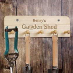 Personalsied Garden Shed Keys and Tool Holder