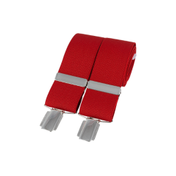 Red 35mm Silver Clip Braces