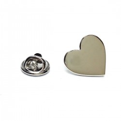 Silver  Heart Lapel Pin