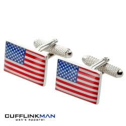 American Stars and Stripes Flag Cufflinks