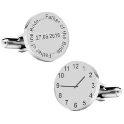 Personalised Father of the Bride..special time cufflinks