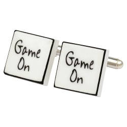 """Game On"" Bone China Cufflinks"