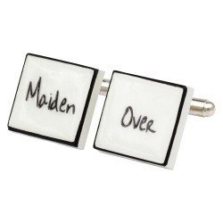 """Maiden Over"" Bone China Cufflinks"