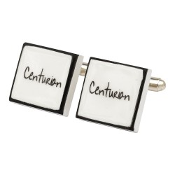 """Centurion"" Bone China Cufflinks"