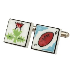 Scottish Rugby Bone China Cufflinks