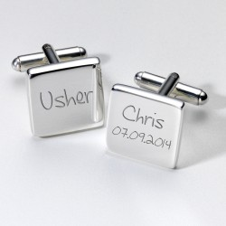 Personalised Usher Cufflinks