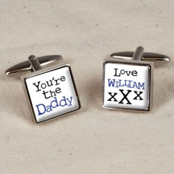 Personalised You're The Daddy Cufflinks