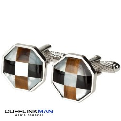 Mother of Pearl Chequer Cufflinks