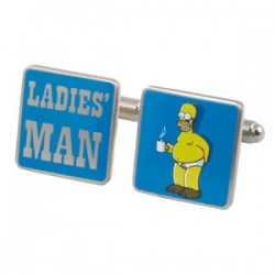 Simpsons Ladies Man Cufflinks