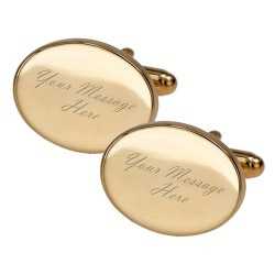 Any Message - Gold Engraved Cufflinks