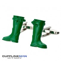 Weekend Wellies Cufflinks - Wellington Boots Cufflinks
