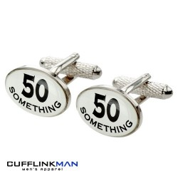 50 Something 50th Birthday Cufflinks