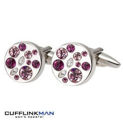 Allure Purple Cufflinks