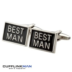 Black Best Man Cufflinks