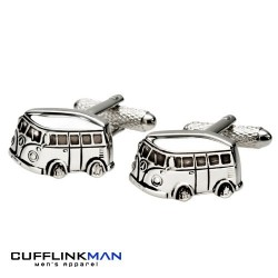 Brushed Campervan Cufflinks