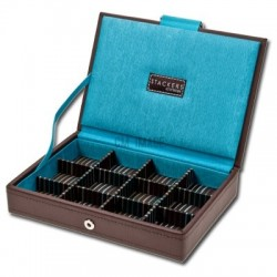 Brown Stackers 12-Compartment Cufflinks Case