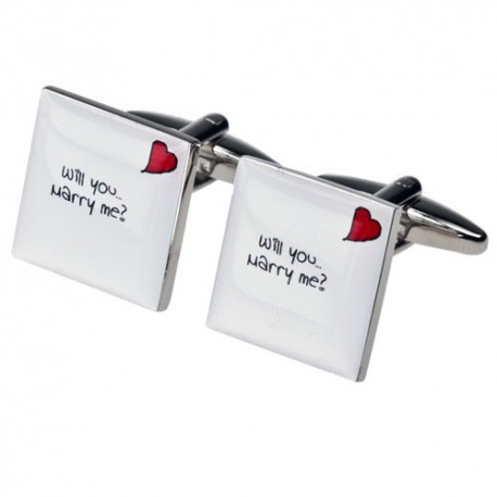 Will you Marry Me? Cufflinks