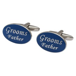 Oval Blue - Grooms Father Cufflinks