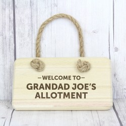 Welcome To… Personalised Wooden Sig