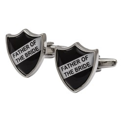 Father of the Bride Shield Cufflinks