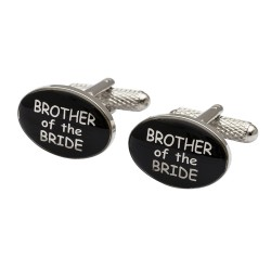 Modern Oval  - Brother of the Bride Cufflinks