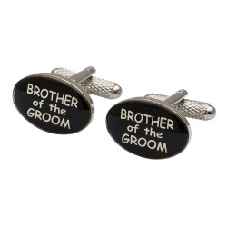 Modern Oval  - Brother of the Groom Cufflinks
