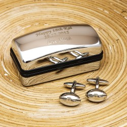 Rugby personalised Cufflinks Gift Set
