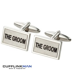 Brushed Rhodium - The Groom Cufflinks