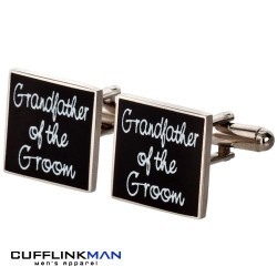 Square Black  - Grandfather of the Groom Cufflinks