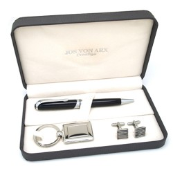 Berkswell Cufflinks Pen & Key Ring Boxed Gift Set