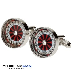 Roulette wheel - Ball moves! Cufflinks