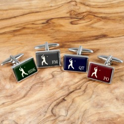Cricket Cufflinks - Personalise with Your Initials