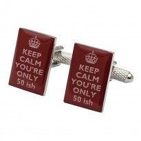 50th Birthday - Keep Calm You're Only 50ish Cufflinks