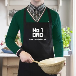 No1 Dad Apron - Personalised Gifts For Dad