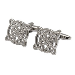 The Galway - Rhodium Celtic Cufflinks