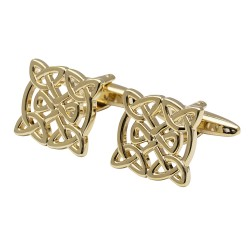 The Kildare - Gold Plated Celtic Cufflinks