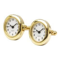 Working Watch Cufflinks - Gold Oval Edition