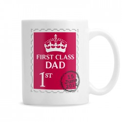 First Class Dad/Grandad Mug - Personalised Mug