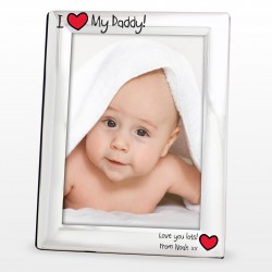 I Heart My Daddy Personalised Photo Frame
